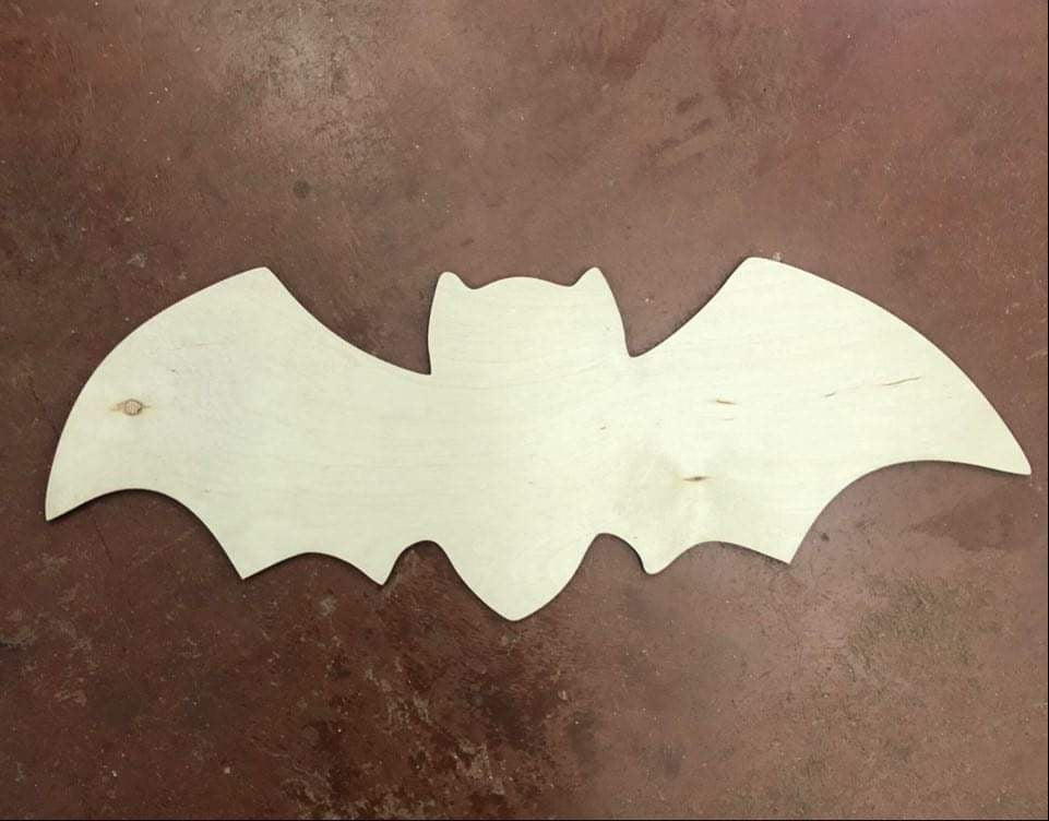 "19"" Skinny Bat Door Hanger Wood Cutout"