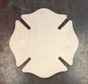 "17"" x 17"" Fireman Cross Wood Cutout"