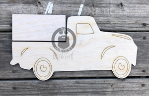 "15"" Farmhouse Truck for 6"" Seasonal Shapes or Plaque"
