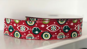 "2.5"" x 50 Yard Christmas Ornament Wired Ribbon"