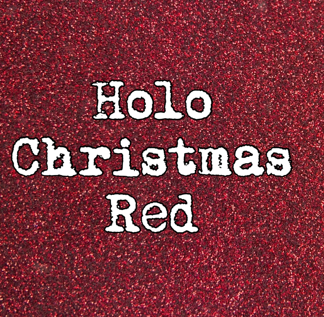 2 Oz. Christmas Red Holographic Glitter Ultra fine