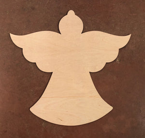 "19"" Angel Wood Cut Out Door Hanger"
