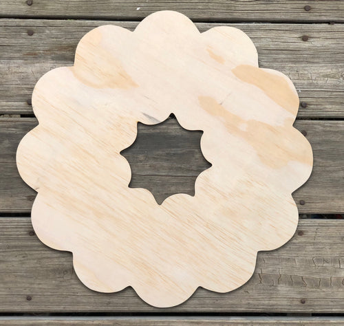 "17"" Blank Wreath for 6"" shapes"