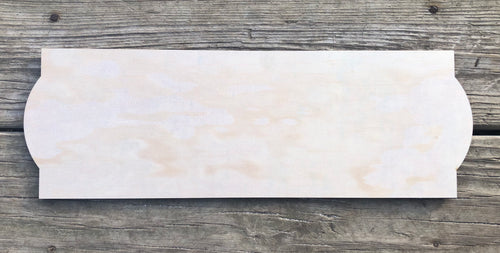 "6"" x 18"" Rounded End Sign Blank"