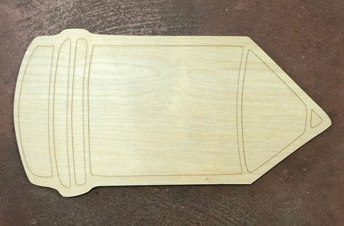 "19"" Chunky Pencil BLANK Wood Cut Out"
