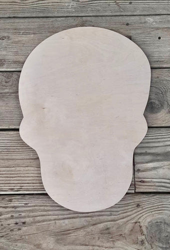 "17"" x 14"" Skull Door Hanger Wood Cutout"