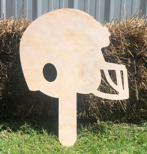Football Helmet Yard Stake