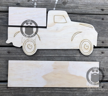 "Load image into Gallery viewer, 15"" Farmhouse Truck for 6"" Seasonal Shapes or Plaque"