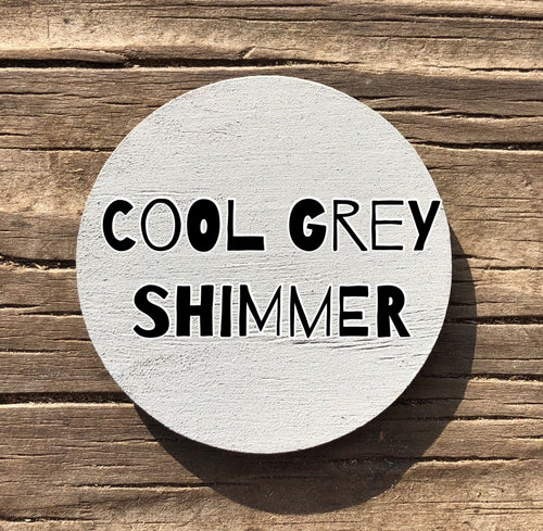 Cool Grey Shimmer 4 Oz Shimmery Peacock Paints