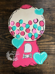 "19"" Gumball Machine Door Hanger Wood Cutout"