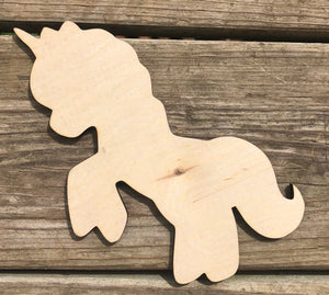 "7"" Jumping Unicorn Wood Cutout"