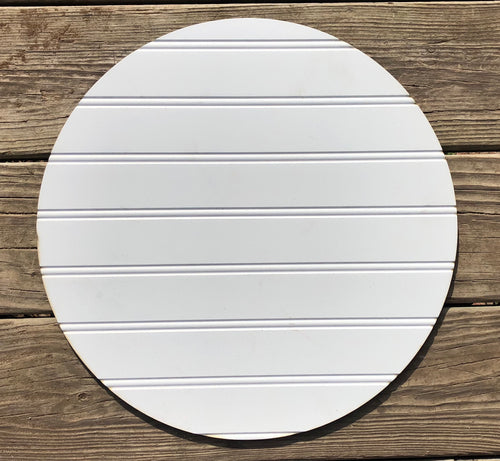 "15"" Shiplap Primered Circle Door Hanger Cut Out"