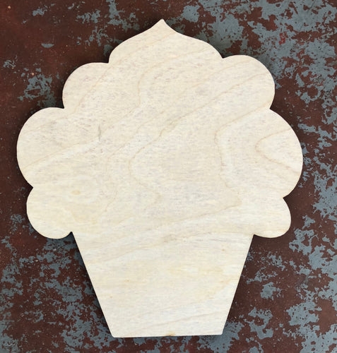 "22"" x 17"" Fluffy Cupcake Door Hanger Wood Cutout"