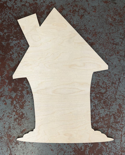 "22"" x 16"" Whimsy House Door Hanger Wood Cutout"