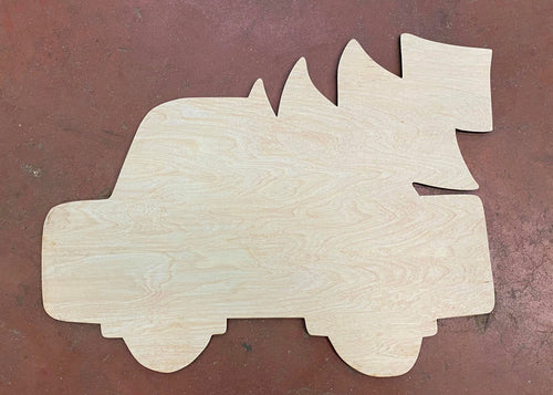 "17"" Whimsy Truck Door Hanger Wood Cutout"