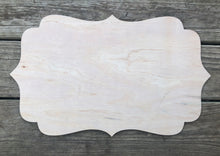 "Load image into Gallery viewer, 19"" x 11"" Skinny Quatrefoil Plaque Blank Wood Sign"