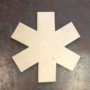 "17"" x17"" Medic Cross Wood Cutout"