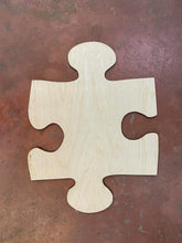 "Load image into Gallery viewer, 17"" Puzzle Piece Wooden Door Hanger Cutout"