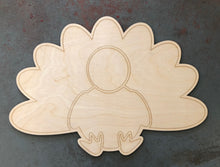"Load image into Gallery viewer, 22"" Turkey Door Hanger Wood Cutout"