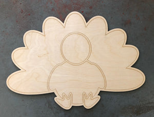 "22"" Turkey Door Hanger Wood Cutout"