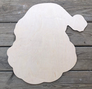 "19"" Hanging Santa Door Hanger Wood Cutout"