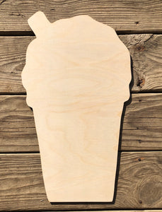 "18"" New Orleans Style Snowball with Straw Wood Cut Out"