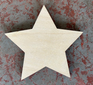 "3"" Star Wood Cutout Accent"