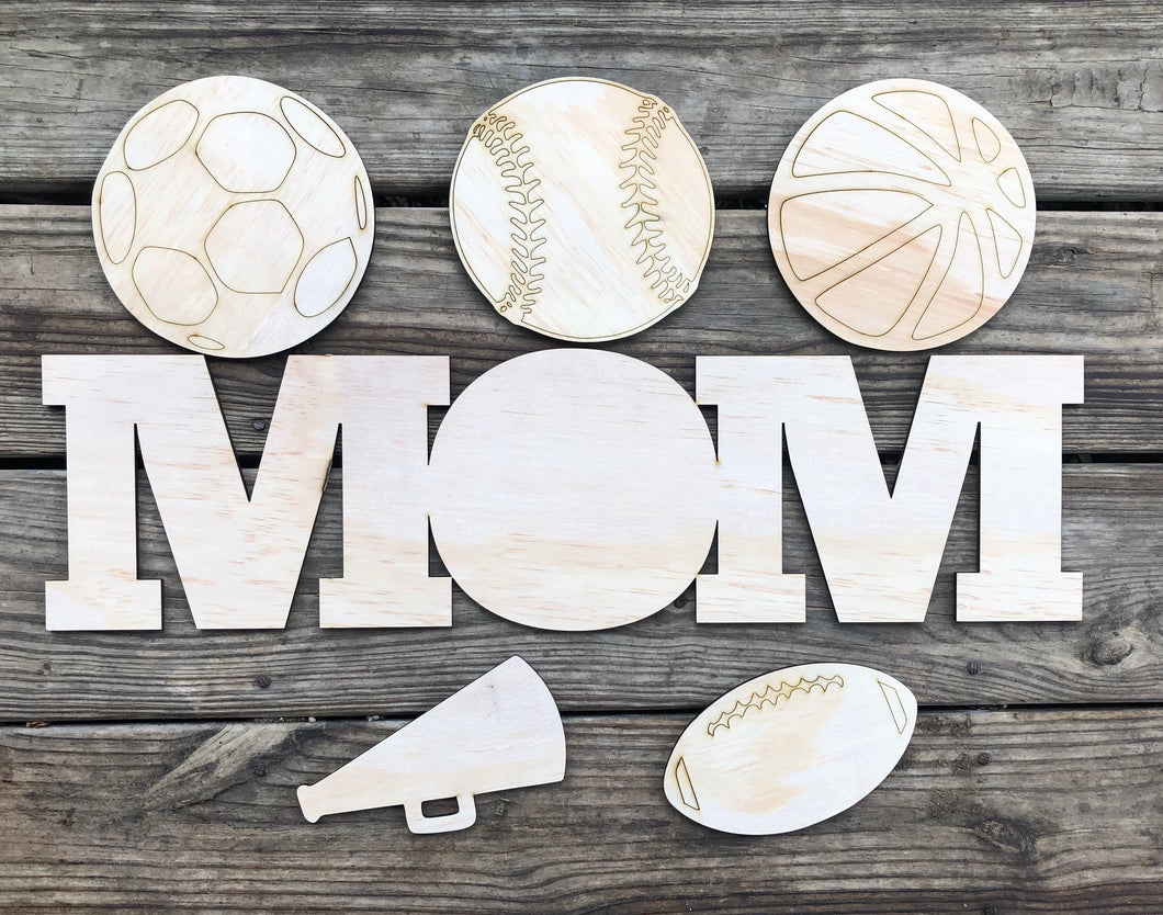 "23"" Mom Sign Set With 5 Interchangeable Shapes"