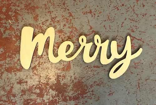 Merry Word Cutout for 15