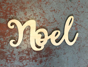 "Noel Word Cutout for 15"" Rounds"