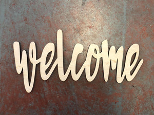 "Welcome Word Cutout for 15"" Rounds"