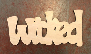"Wicked Word Cutout for 15"" Rounds"