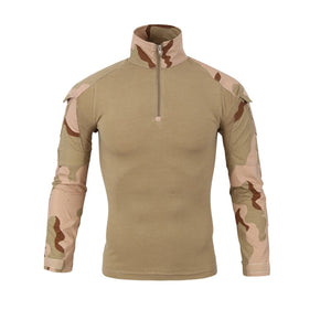 Military Mens Camouflage Tactical T Shirt Long Sleeve Brand Cotton Breathable Combat Frog Tshirt Men