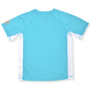 BOYS DAZED ALL OVER AGAIN BLUE ATOLL RASHGUARD UV GUARD