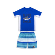 BOYS DAZED AGAIN RASHGUARD & BOARDSHORT SET