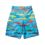 BOYS RAINBOW SHARKS BOARDSHORT UPF 50