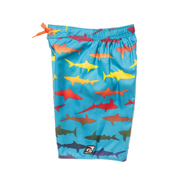 BOYS RAINBOW SHARKS BOARDSHORT