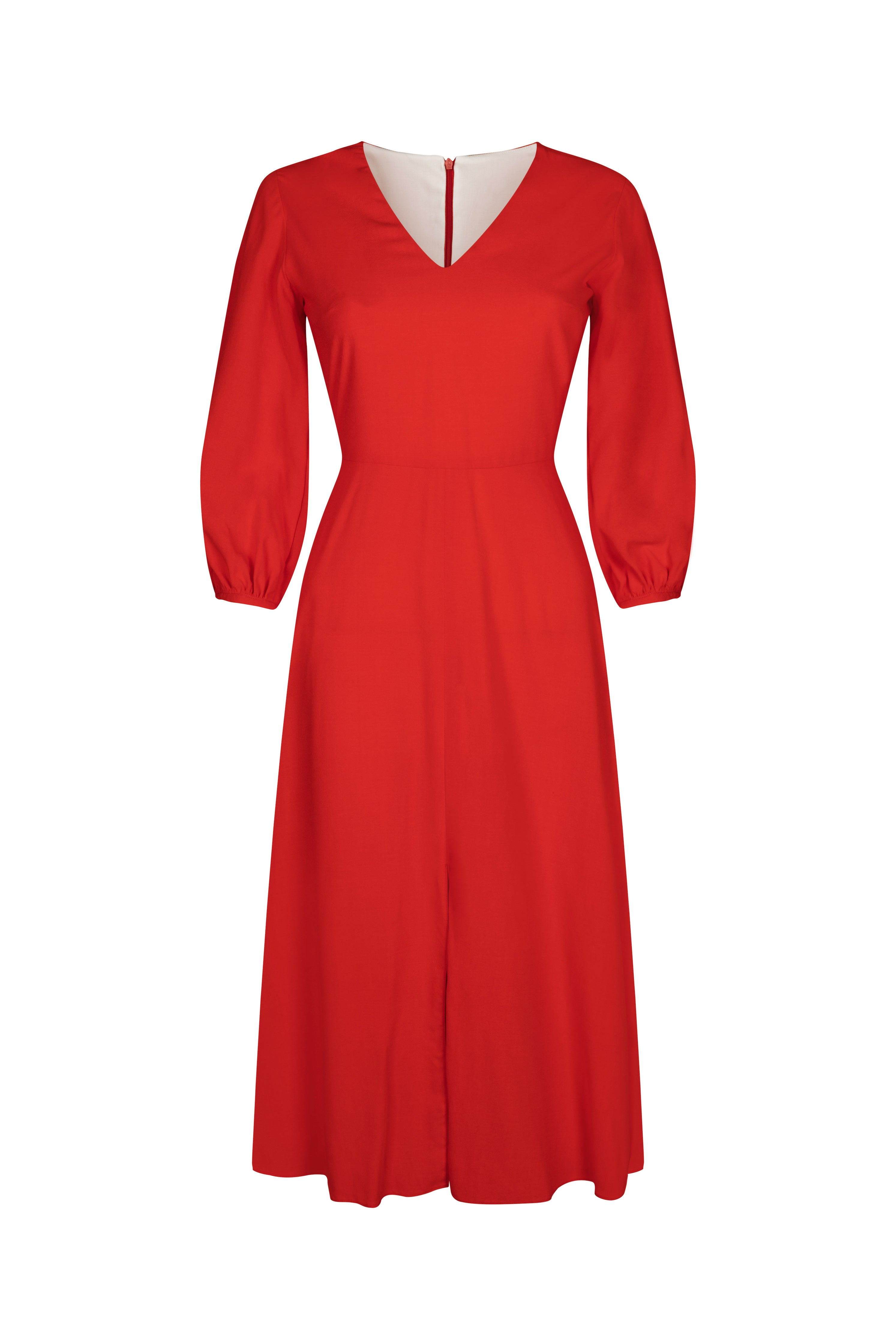 Hannah Dress in Scarlet