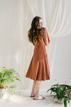 Hannah Dress in Terracotta