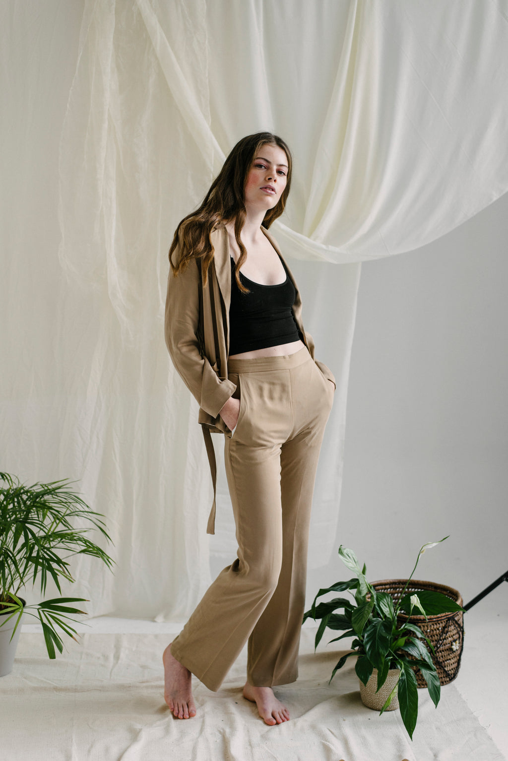 Jemima Trousers in Biscuit