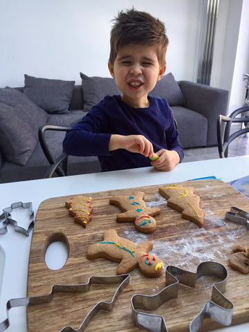 Baking with children, develop fine motor skills