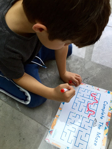 mazes to aid fine motor skill development