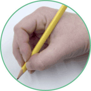 Quadrupod pencil grip.