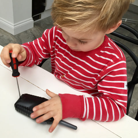 Screwing to improve fine motor skills
