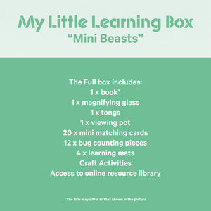 "My Little Learning Box: ""Mini Beasts"" - PREORDER"