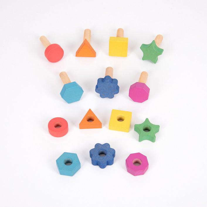 Rainbow Wooden Nuts Bolts