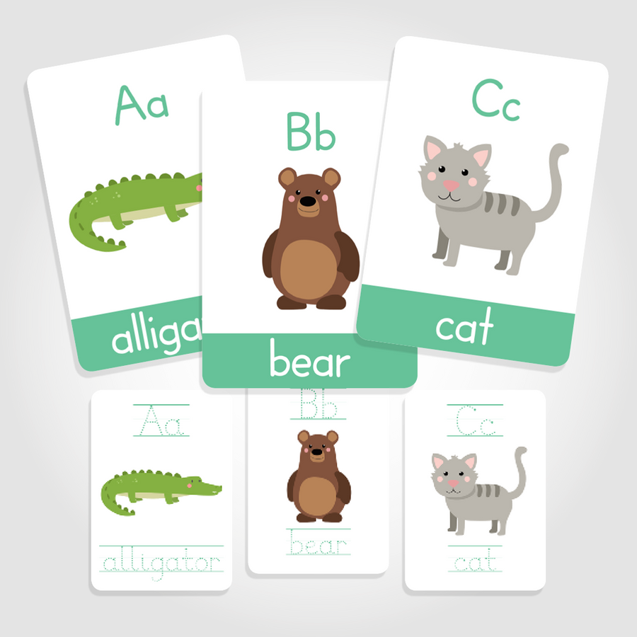 Animal Alphabet Flashcards |ABC Flashcards - My Little Learner
