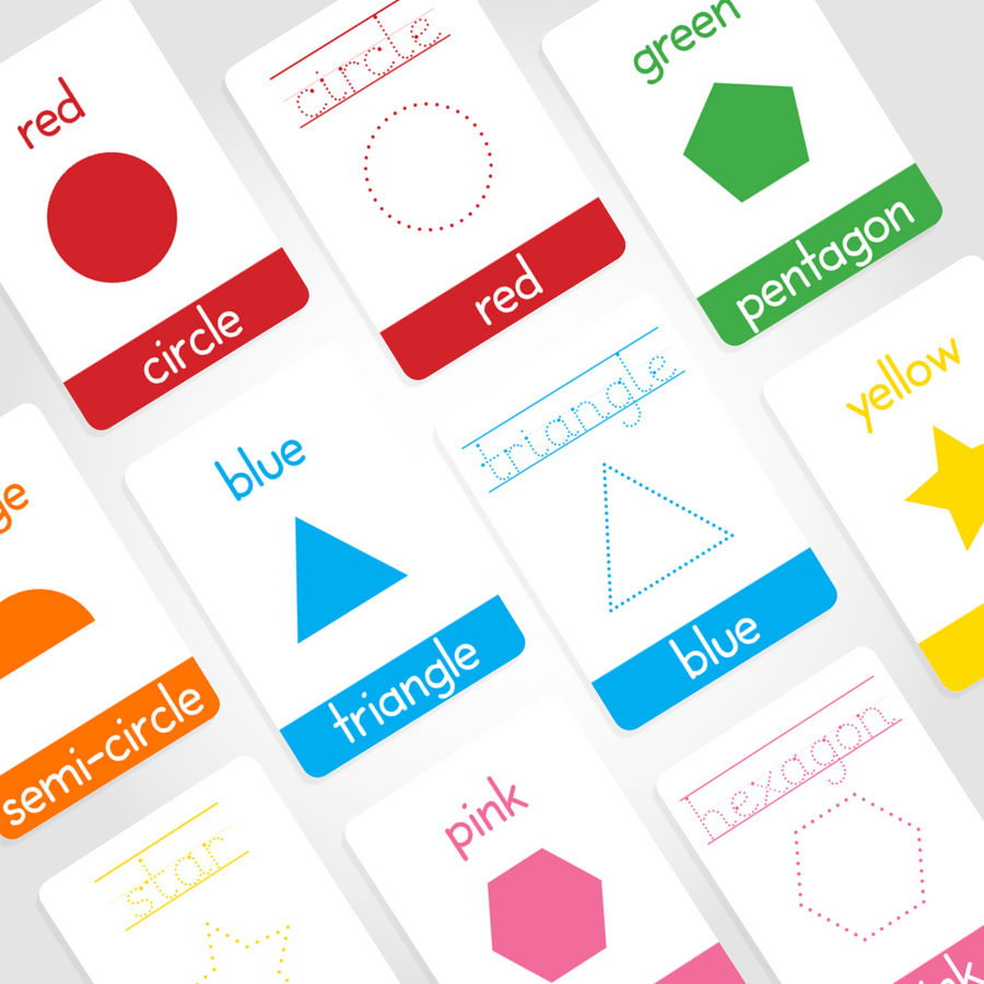 Colours Flashcards + Shapes Flashcards