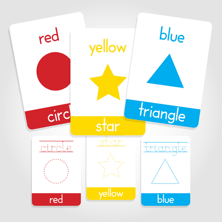 Colours Flashcards and Shapes Flashcards - My Little Learner