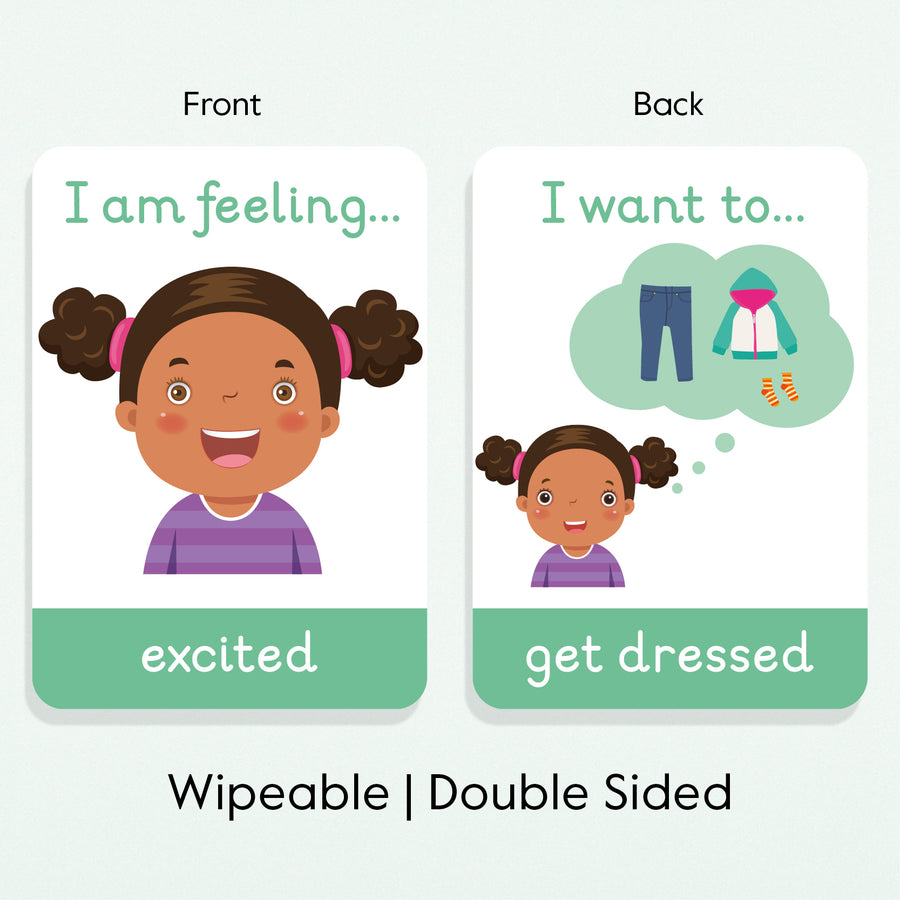 Emotions Flashcards + Daily Activities Flashcards - My Little Learner